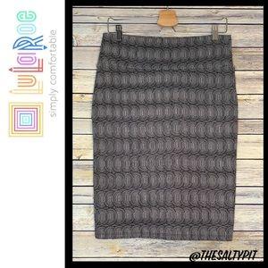 LuLaRoe Cassie Geometric Print Skirt, Size Med